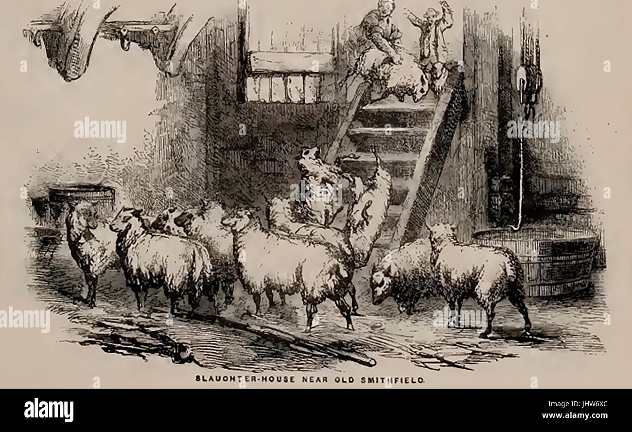 A 19th century slaughter house - abattoir.near Smithfield Market, London - Stock Image