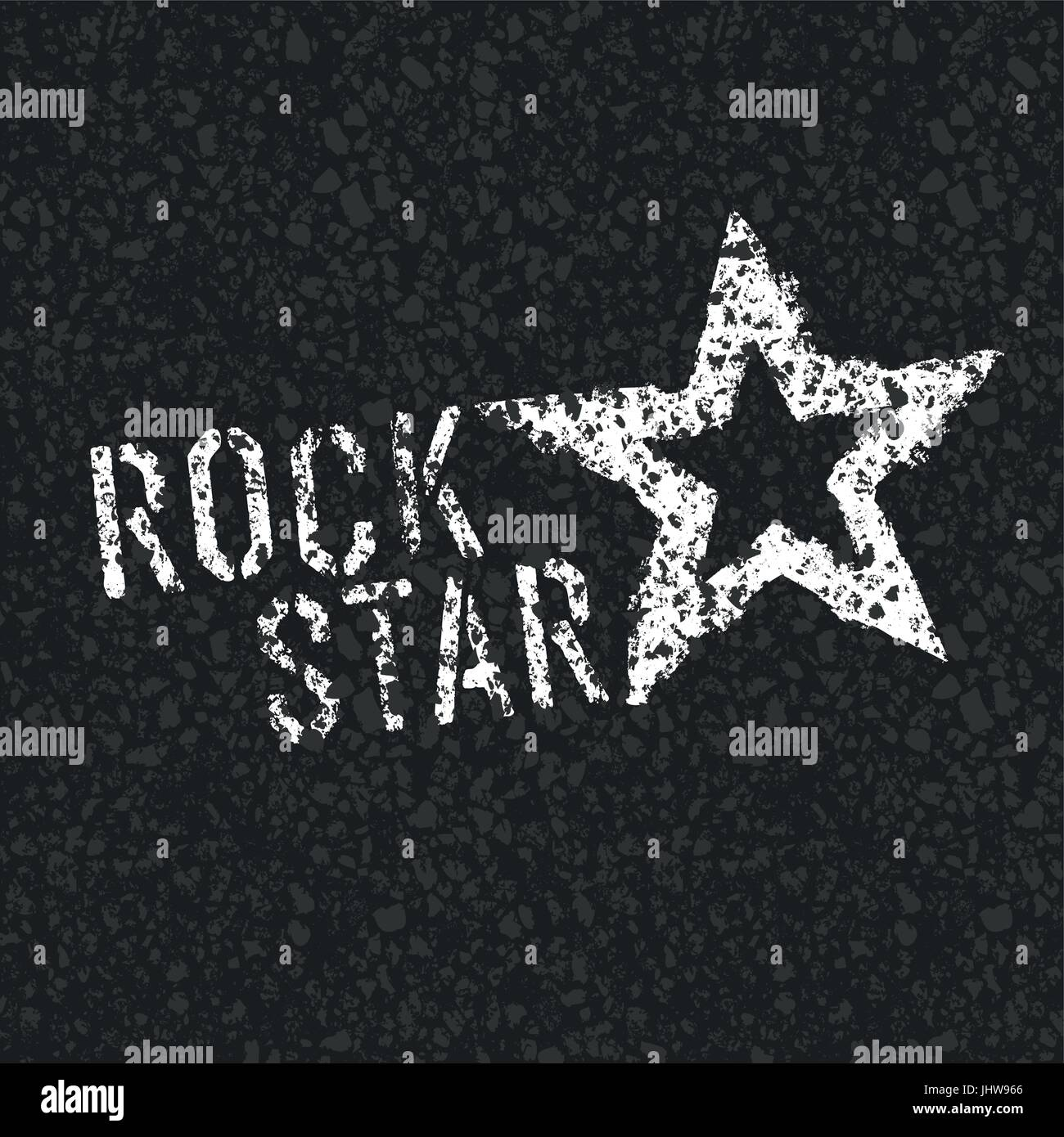 Rock Star Symbol On Asphalt Texture Stock Vector Art Illustration