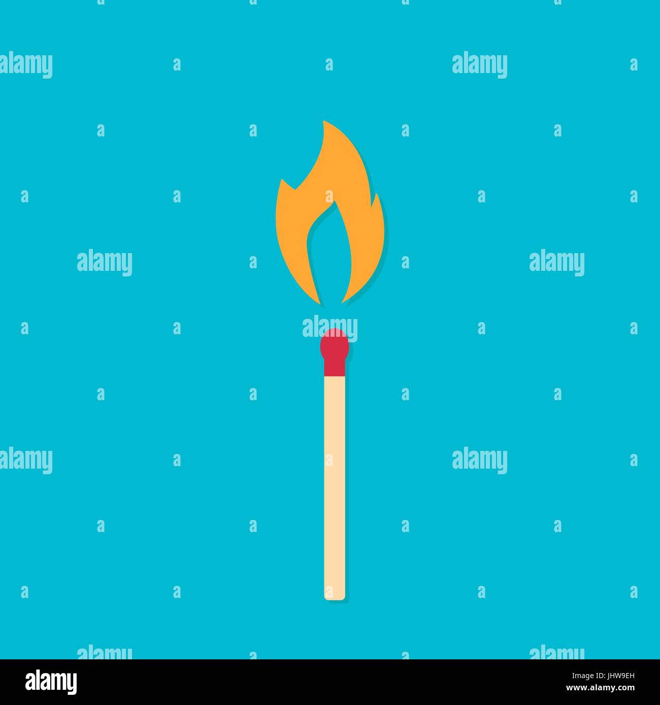 Match with fire. - Stock Image