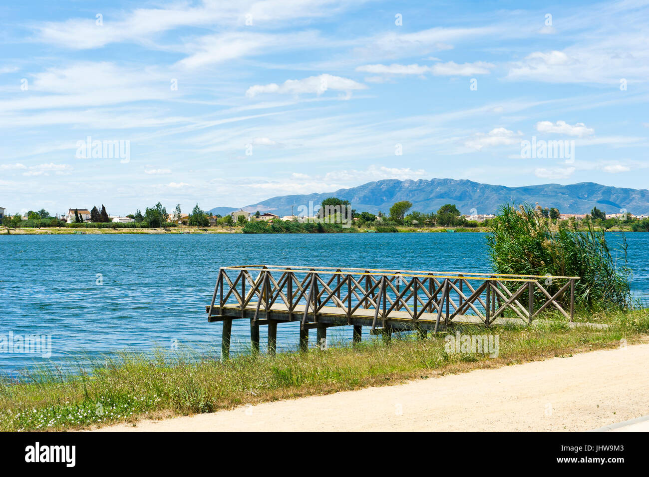 River Ebre, Deltebre, Delta se lEbre, Eastern Spain Stock Photo