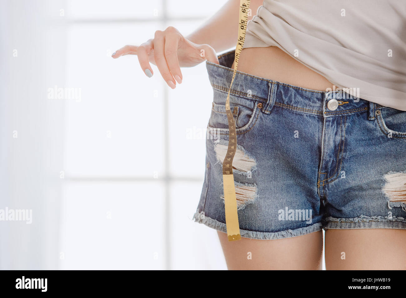 c942cdbd0 Young woman weight loss perfect body shape Stock Photo  148689557 ...