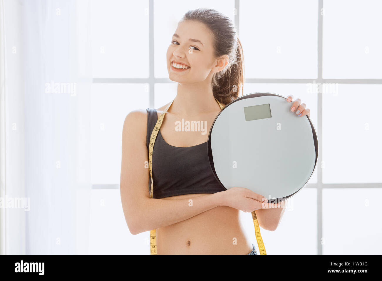 be693f17d Young woman weight loss perfect body shape Stock Photo  148689564 ...