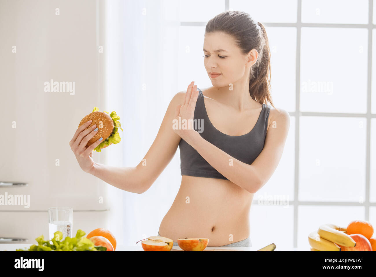 46066a2a33 Young woman weight loss perfect body shape Stock Photo  148689573 ...