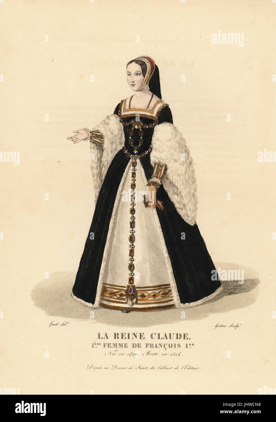 Queen Claude First Wife Of King Francis I 1499 1524 She Wears A