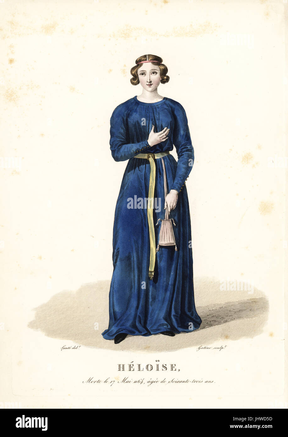 Heloise d'Argenteuil, nun, scholar and writer, best known for her romance with Abelard, died 1164. The large - Stock Image