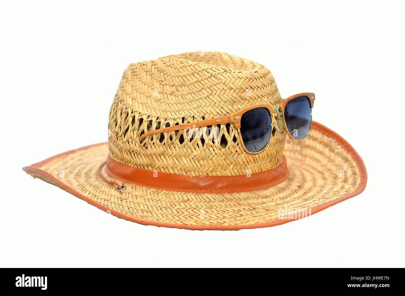 hat and sunglass - Stock Image