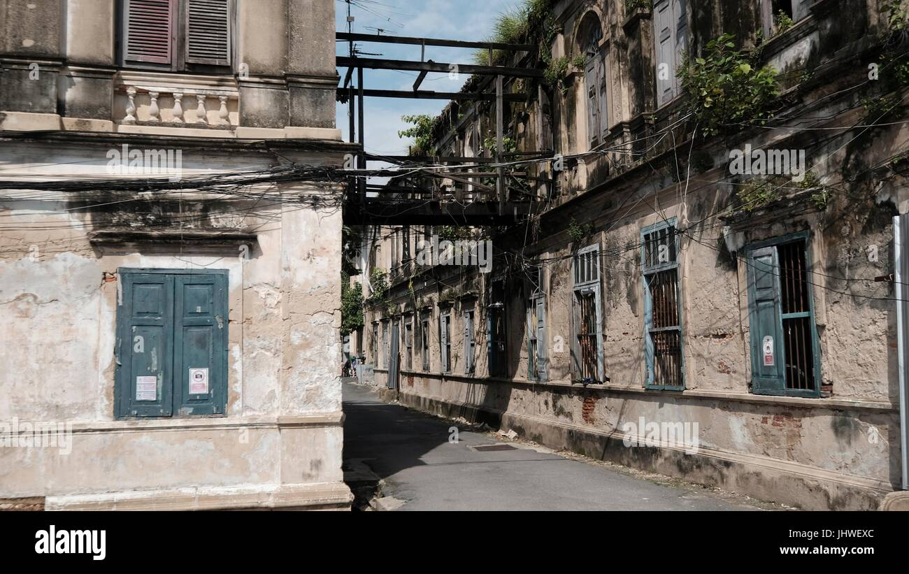 Abandoned Colonial Style Historical Old Customs House Bang Rak Firehouse Architecture On The Chao Phraya River Bangkok Thailand South East Asia