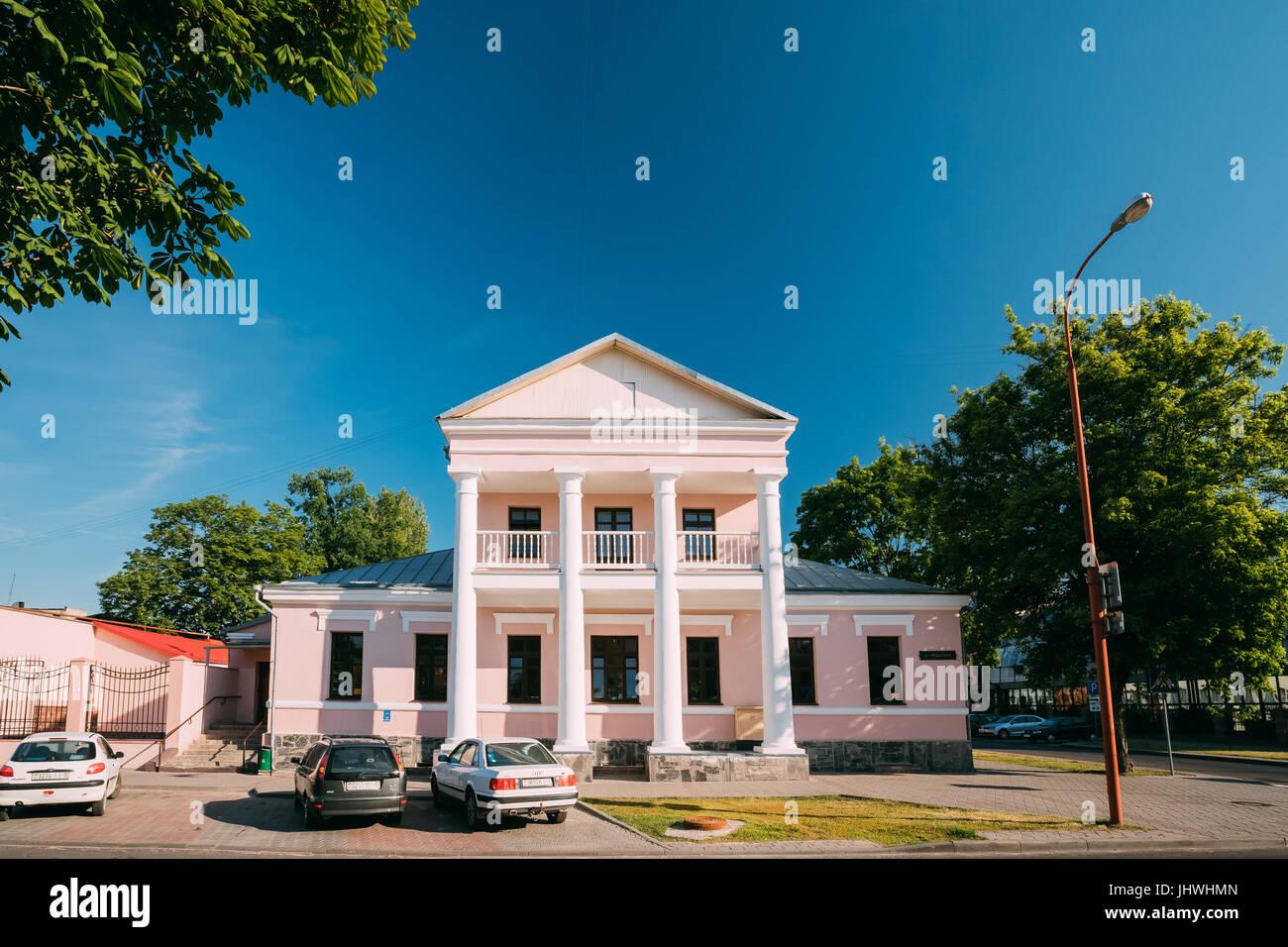 Brest, Belarus - June 6, 2017:  Old Mansion Manor House In Sunny Summer Day. - Stock Image