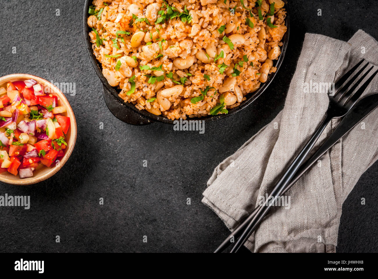 Mexican latin american cuisine mexican rice and beans bowl is a mexican latin american cuisine mexican rice and beans bowl is a recipe made with rice and white beans homemade with fresh herbs and herbs in a fr forumfinder Images