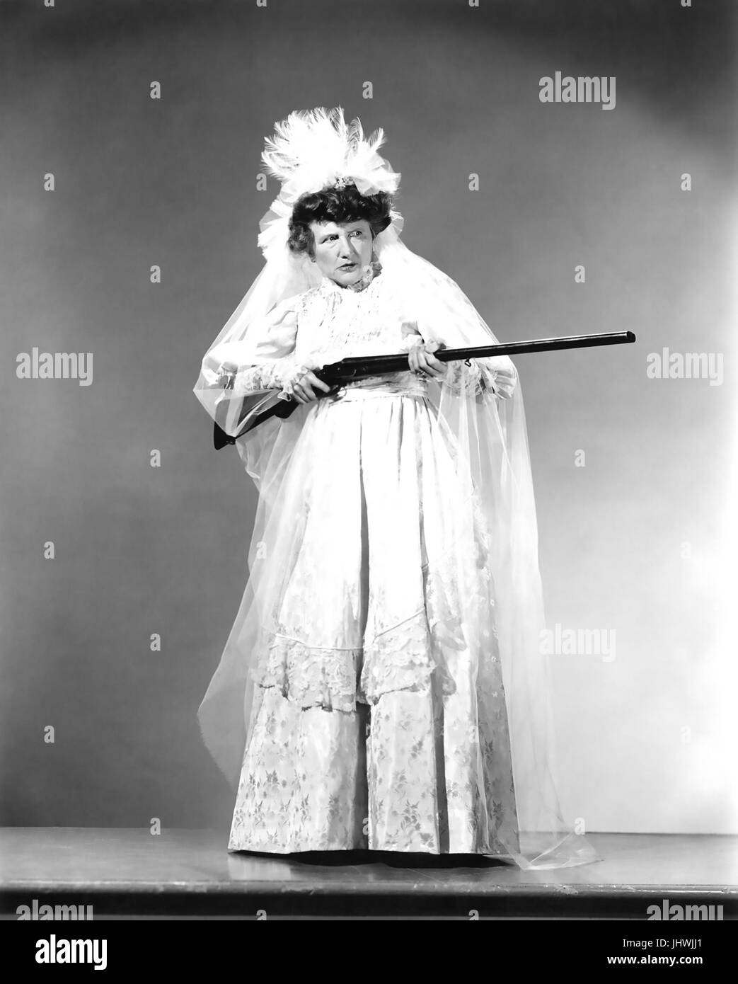 THE WHISTFUL WIDOW OF WAGON GAP 1947 Universal Pictures film with Marjorie Main - Stock Image