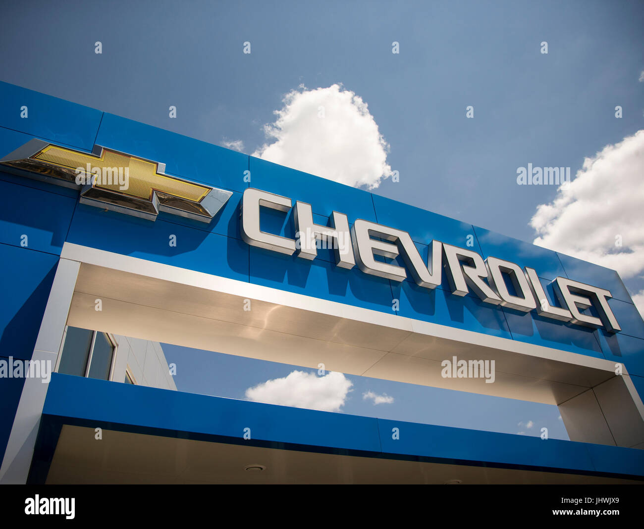 Sign Above A Chevrolet Dealership In New Jersey