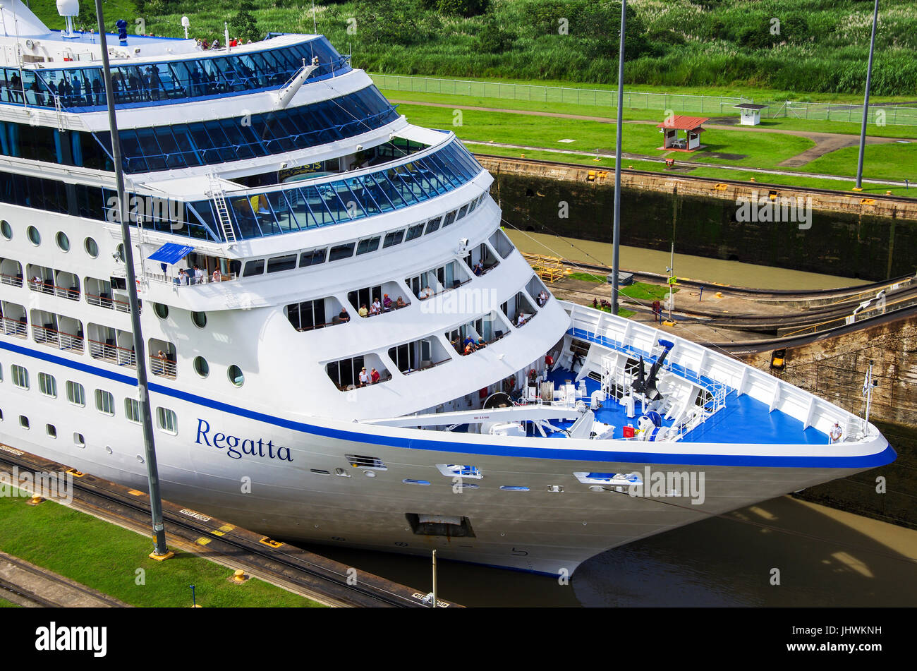The MS Regatta Cruise ship of the Oceania Cruises in the