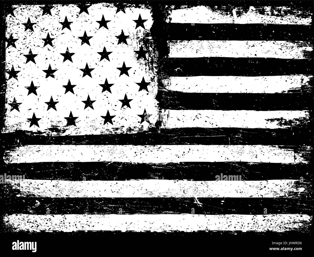American Flag Torn Black And White Stock Photos Images Alamy