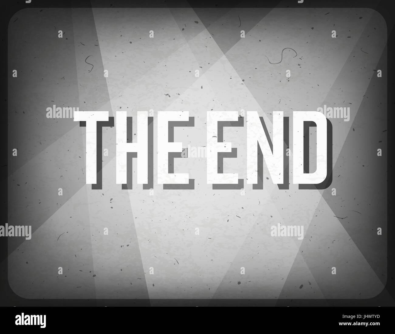 Movie ending screen. Cinema background. - Stock Vector