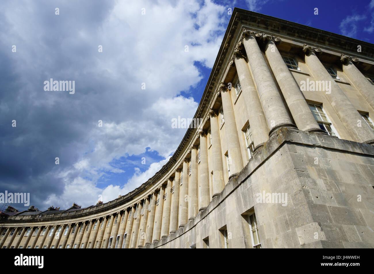 The Royal Crescent, Bath Stock Photo