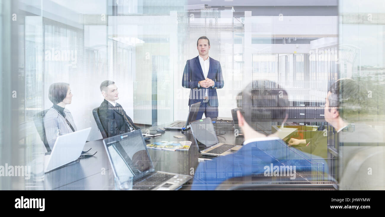 Corporate business team office meeting. - Stock Image