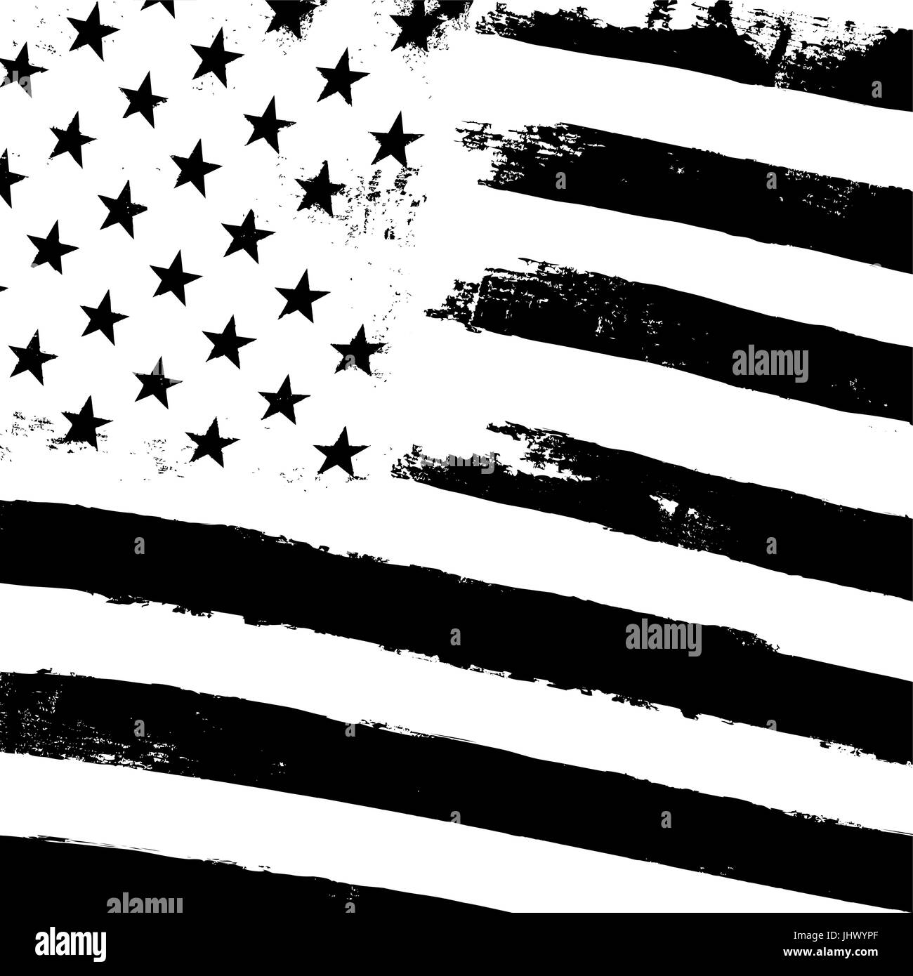cf486ef94727 Monochrome grunge american flag background. Patriotic design template. Black  and white