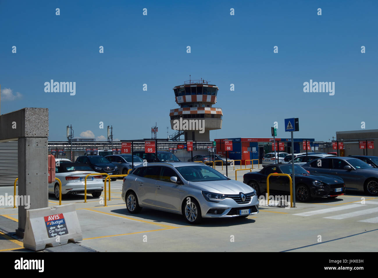 Car rental carpark at Venice airport. Italy Stock Photo: 148702949 ...