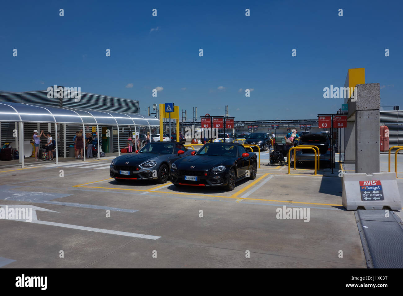 Car Rental Carpark At Venice Airport Italy Stock Photo 148702956