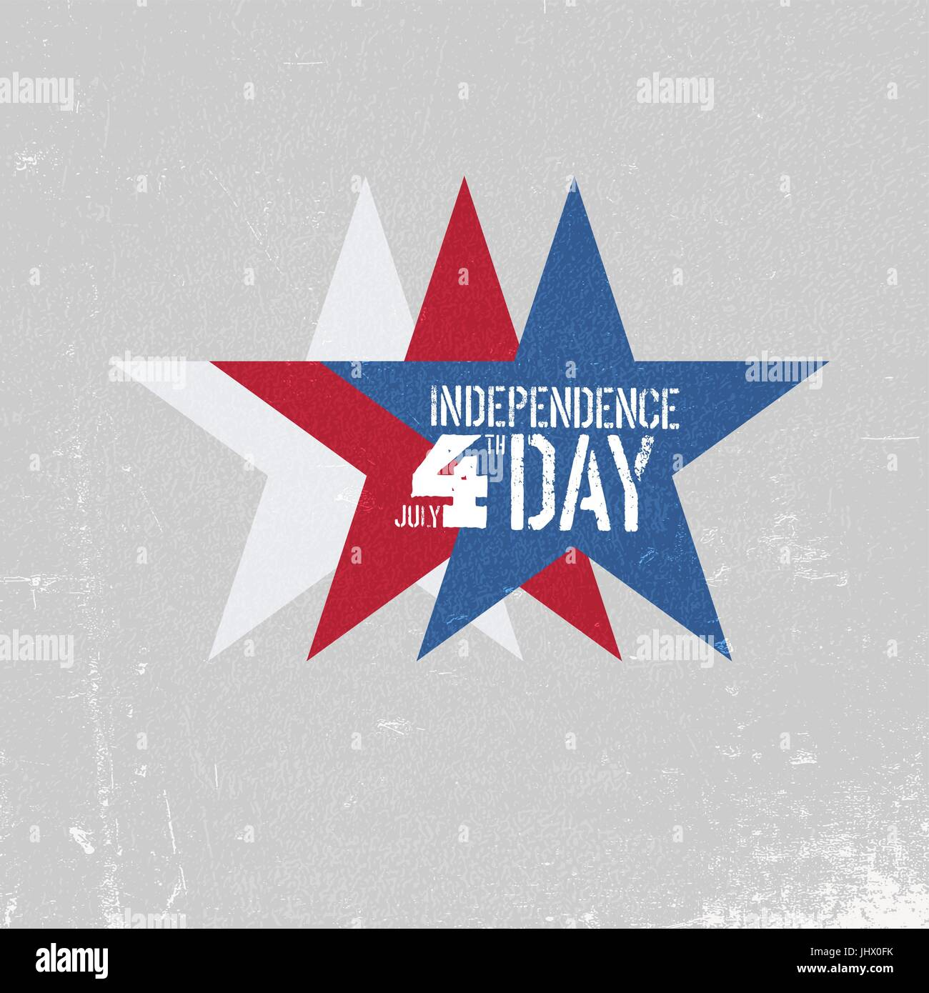 independence day greeting card patriotic design template three