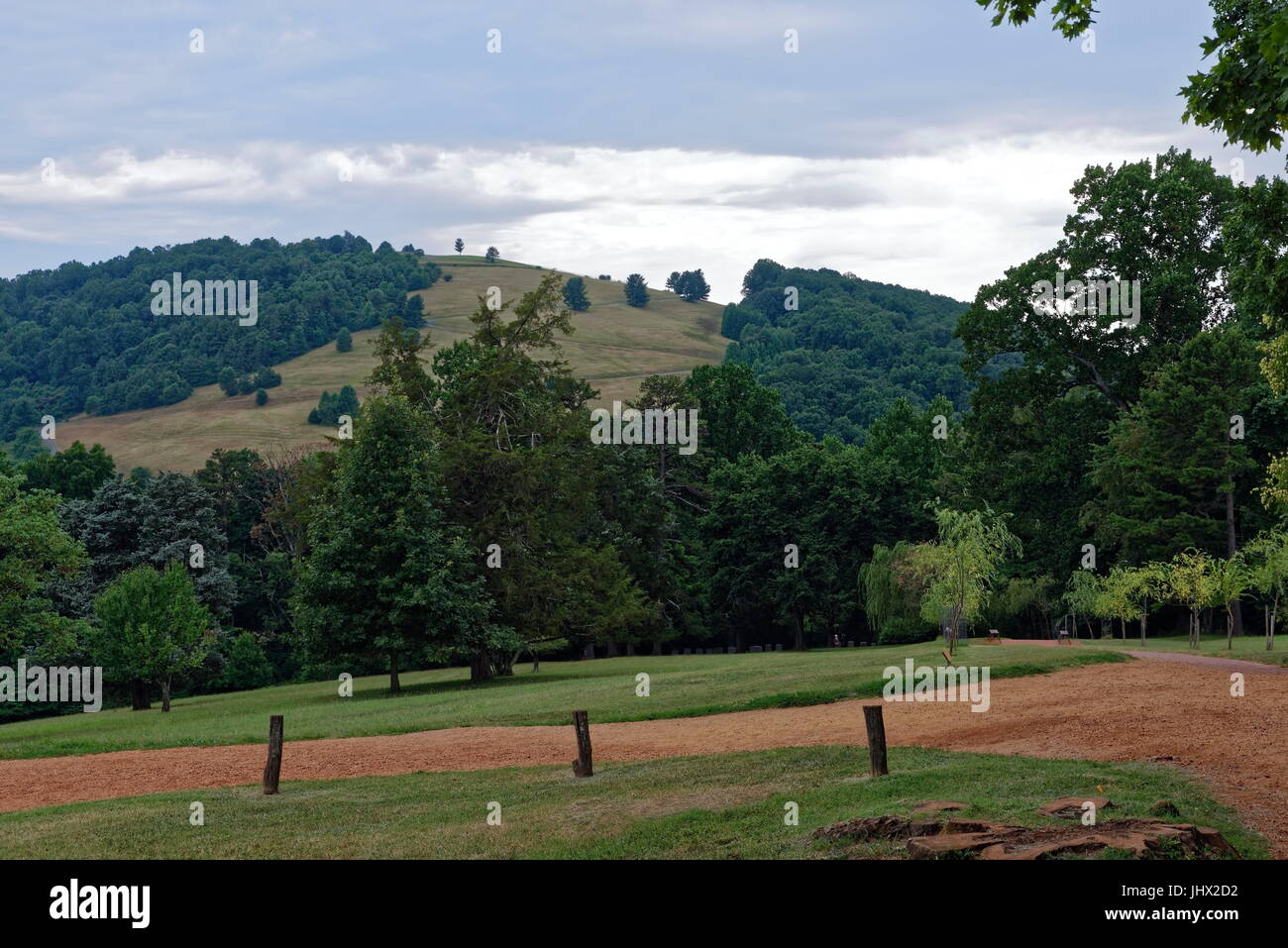 Grounds and Gardens, Monticello, Virginia - Stock Image