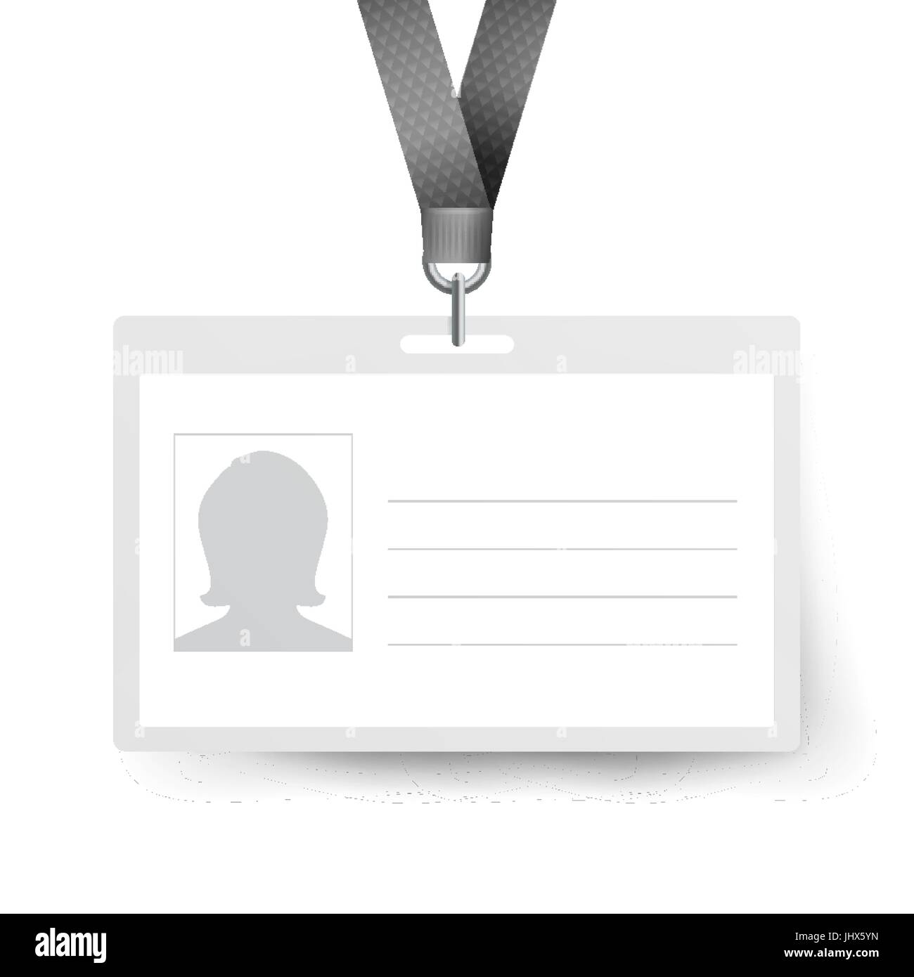 realistic identification card vector template name tag employee