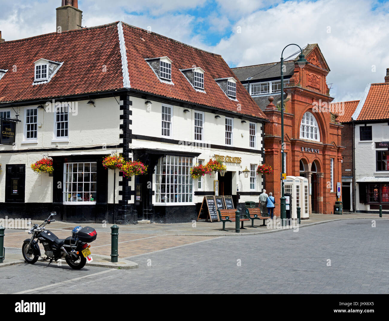 The Grapes pub in Beverley, East Yorkshire, England UK - Stock Image