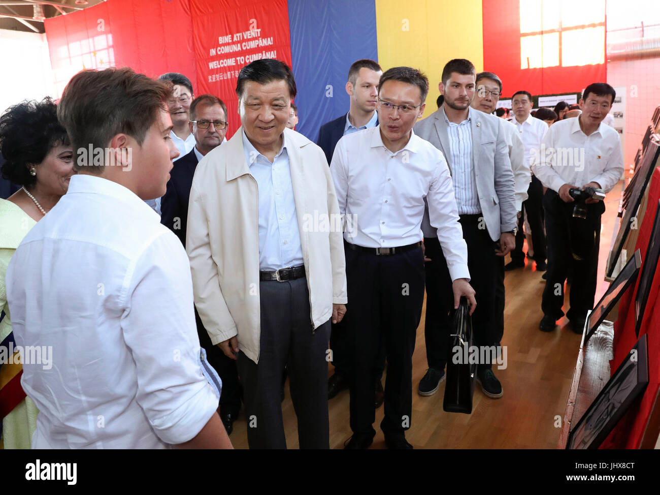 Bucharest, Constanta of Romania. 15th July, 2017. Liu Yunshan, a member of the Standing Committee of the Political - Stock Image