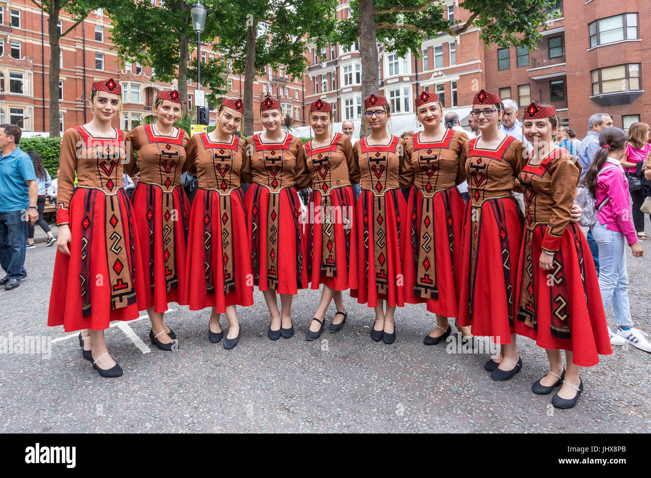 London, UK. 16th July, 2017. Dancers perform at the 7th Armenian Street Festival. © Guy Corbishley/Alamy Live News Stock Photo