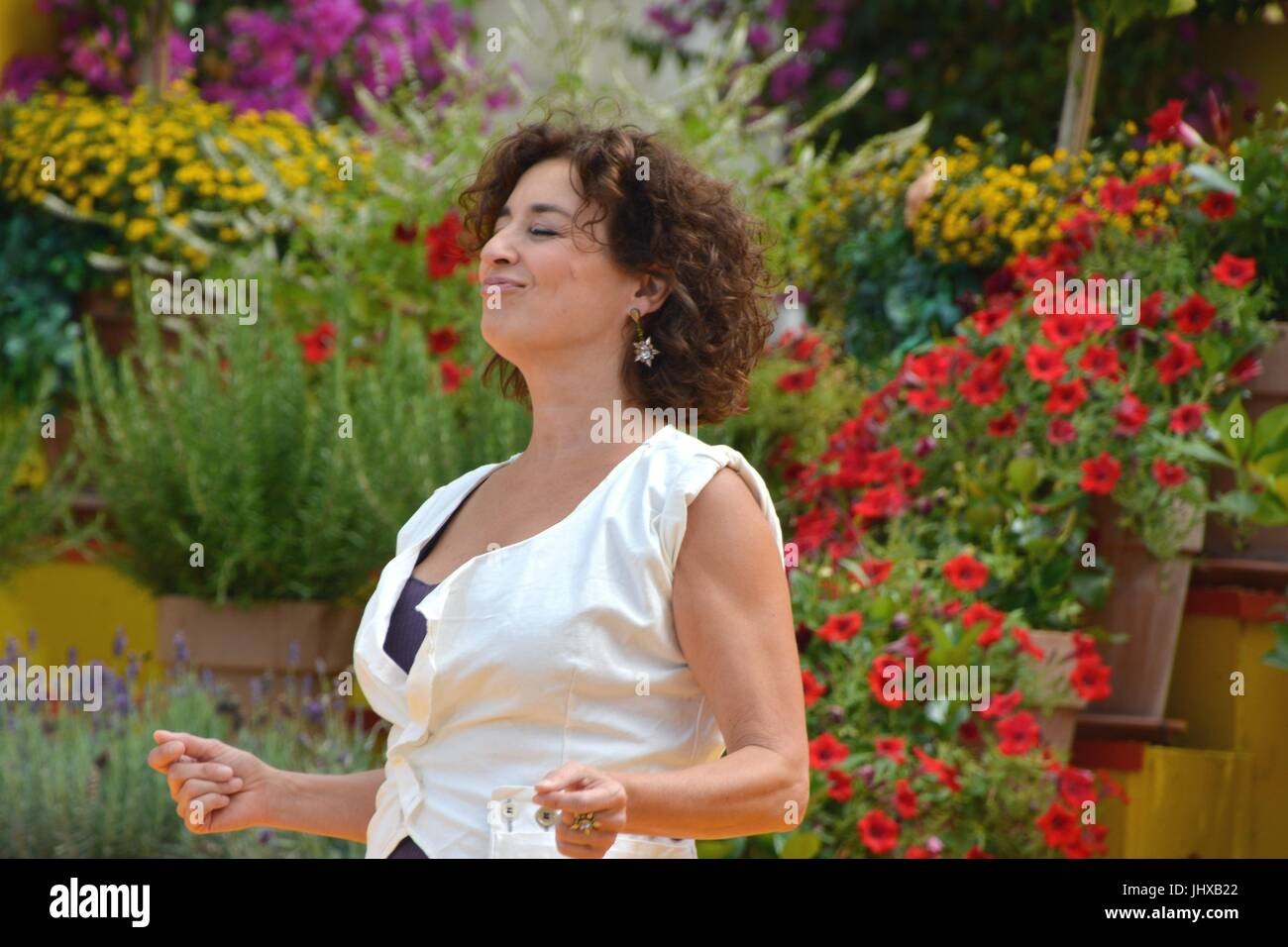 Rust, Germany, 16th July, 2017, Das Erste ARD TV Show 'Immer wieder Sonntags' Featuring: Isabel Varell Credit: - Stock Image