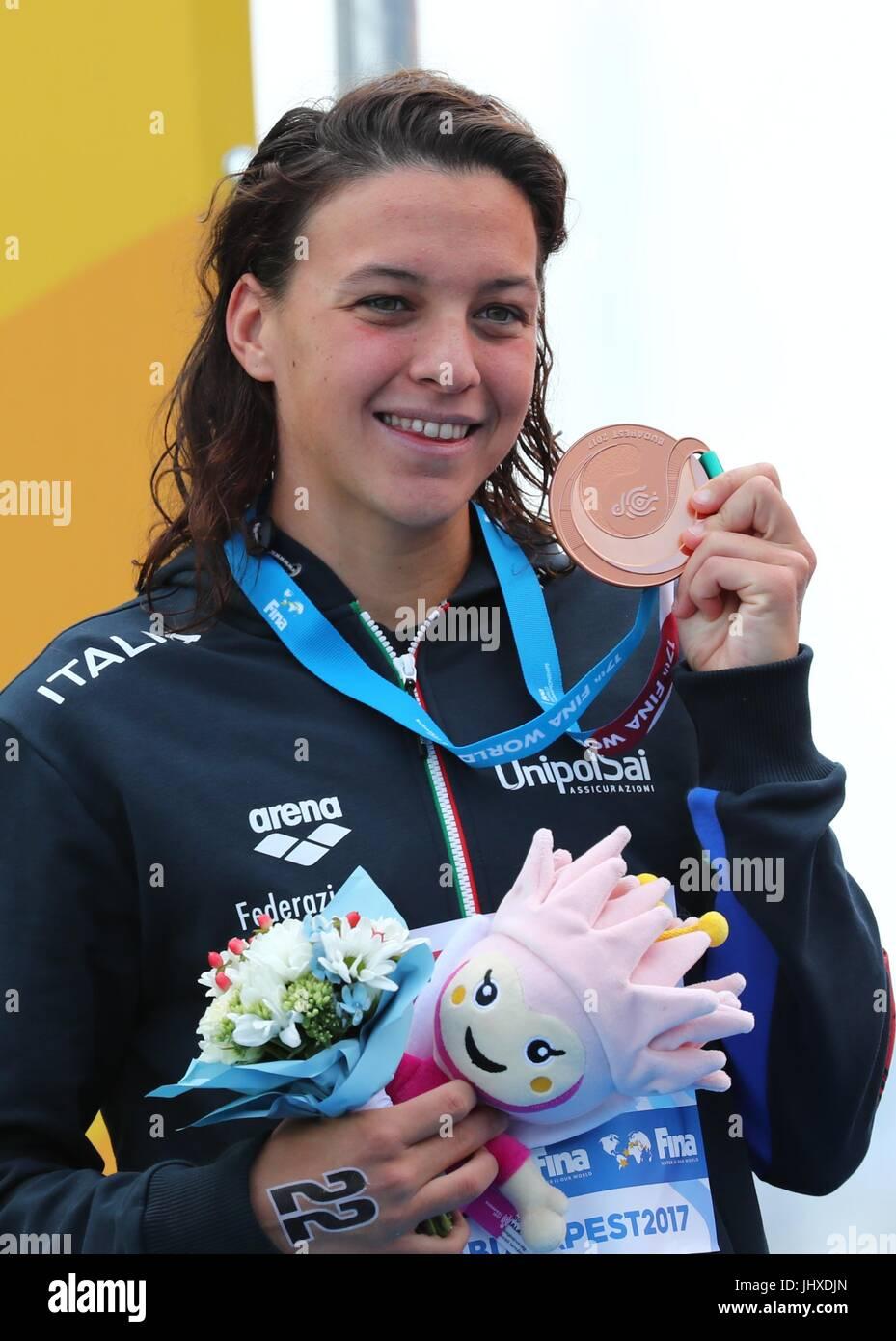 Balatonfured Hungary 16th July 2017 Bronze Medalist Arianna Bridi Of Italy Poses