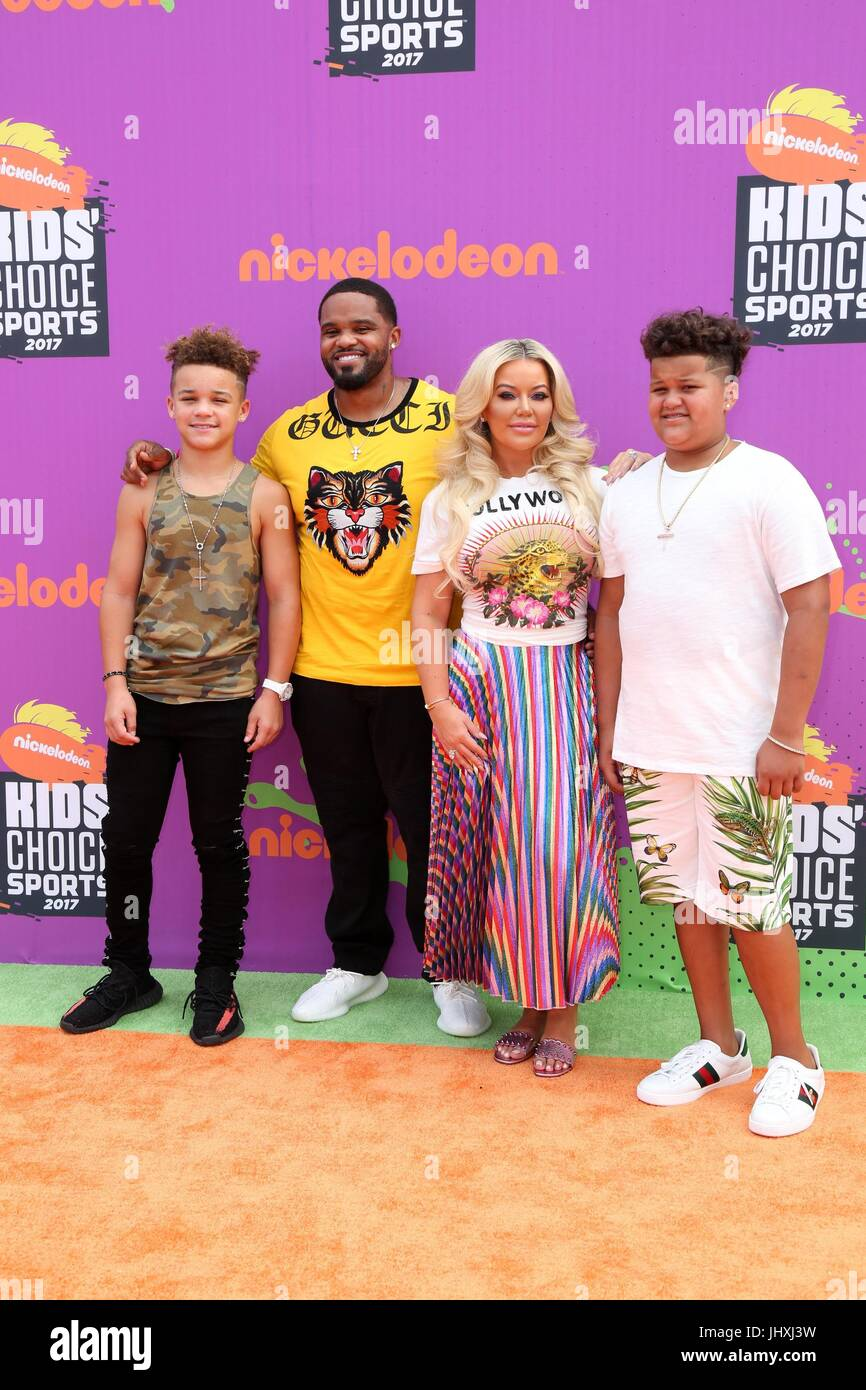 Westwood, CA. 13th July, 2017. Prince Fielder, Guests at arrivals for NIckelodeon Kids Choice Sports Awards 2017, - Stock Image