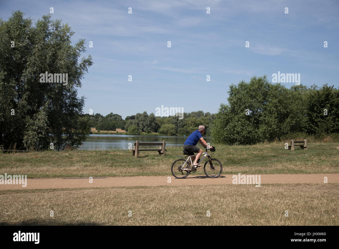 Ferry Meadows country park, Peterborough, UK. 17th July 2017. UK ...