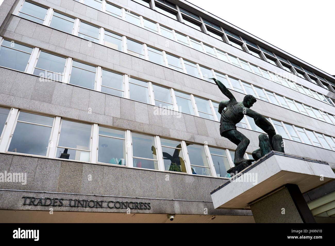 Trades Union Congress House, Great Russell Street, Bloomsbury, London, UK - Stock Image