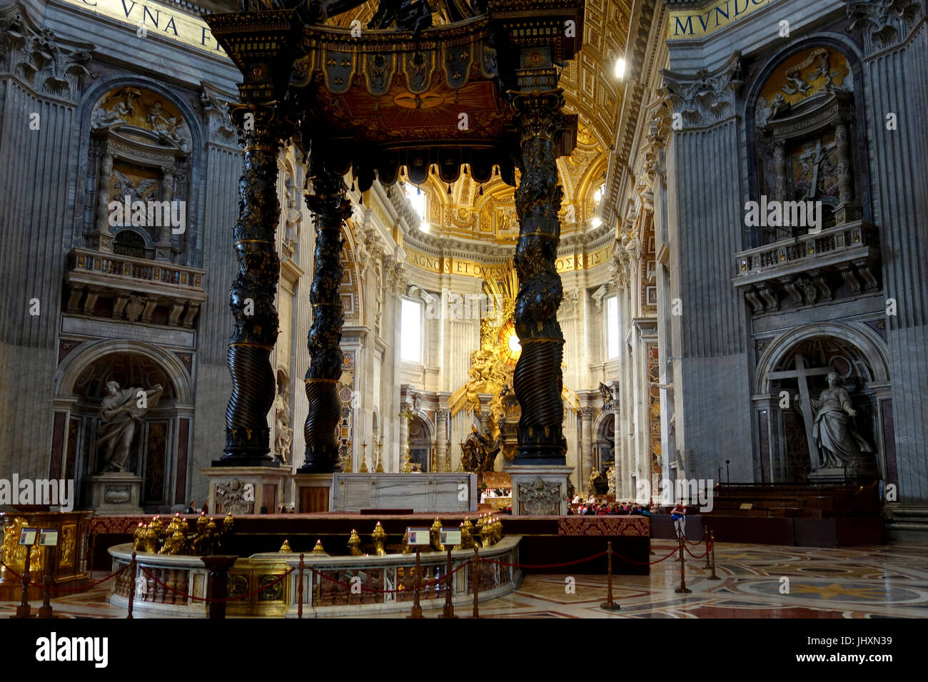Interior, St Peter's Basilica, Rome, Italy - Stock Image