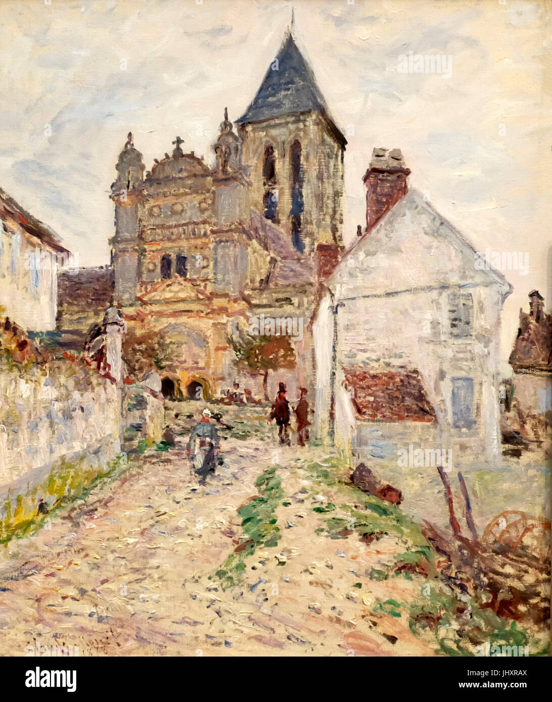 The Church at Vetheuil - Claude Monet, circa 1878 - Stock Image