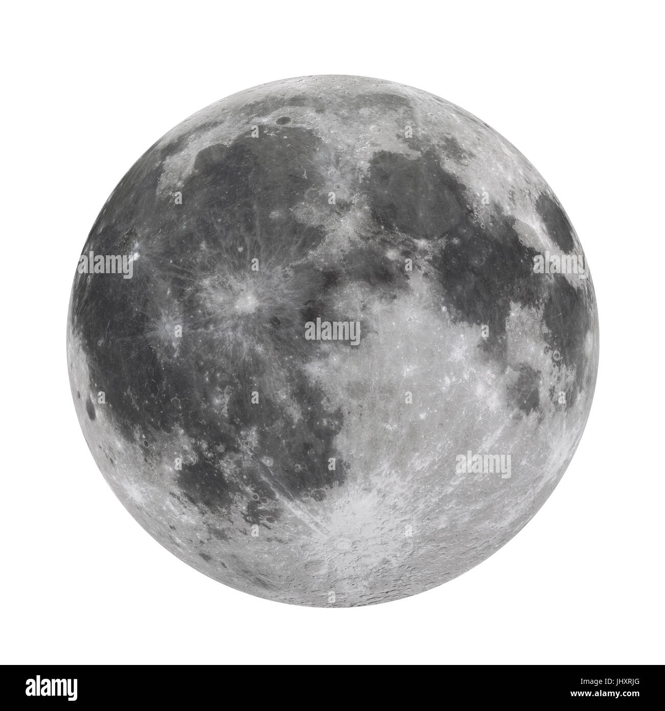 Full Moon Isolated (Elements of this image furnished by NASA) - Stock Image