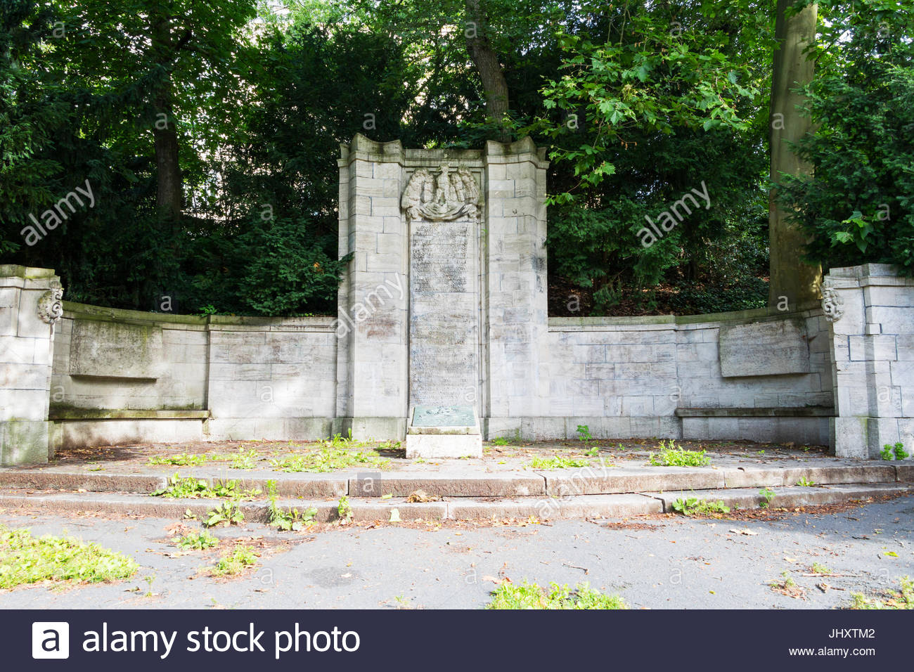 German Memorial to killed soldiers in prussian german war 1864-1866, french german war 1870-1871 and first world - Stock Image