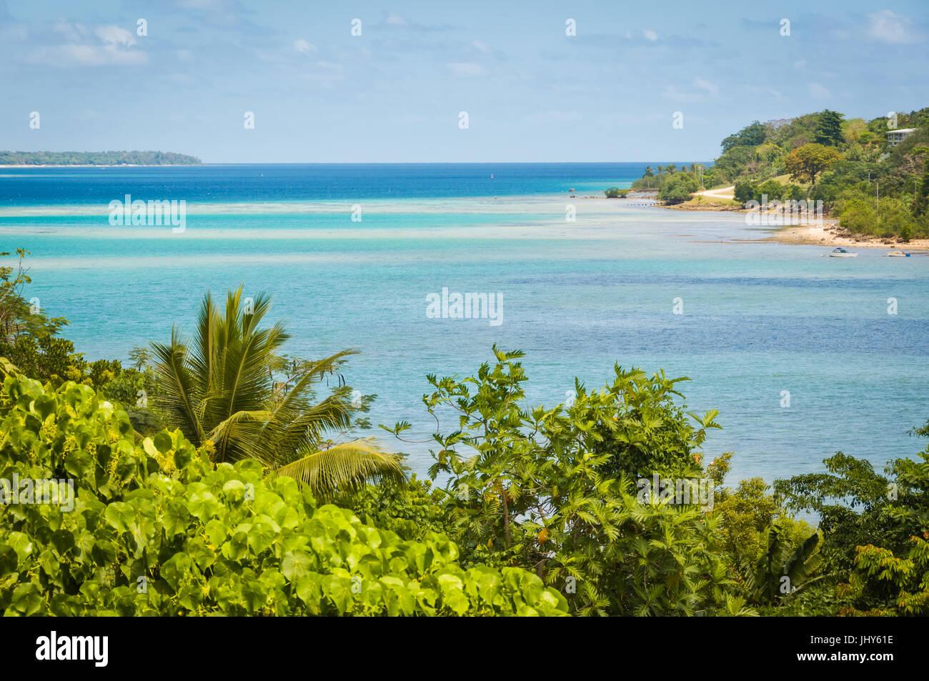 Magnificent Fatumaru Bay in Port Vila, Efate Island, Vanuatu - Stock Image