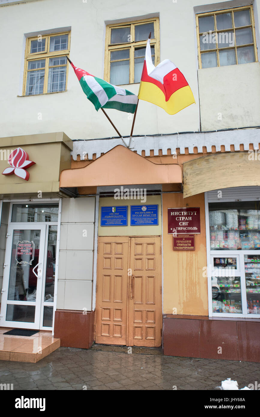 Embassies of Abkhazia and South Ossetia, Tiraspol, Transnistria - Stock Image