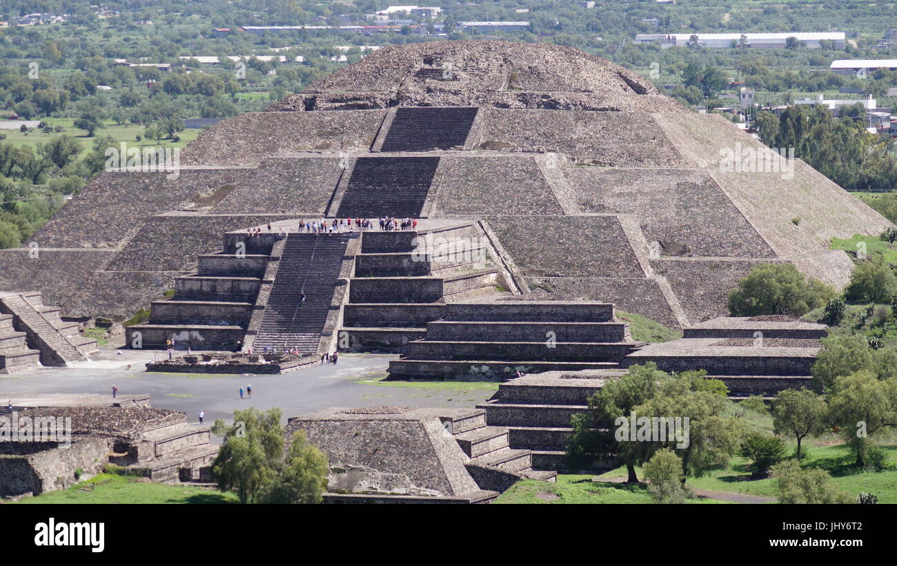Teotihuacan city of the gods, beautiful Mexican culture and beauty architecture  that will leave you speechless - Stock Image