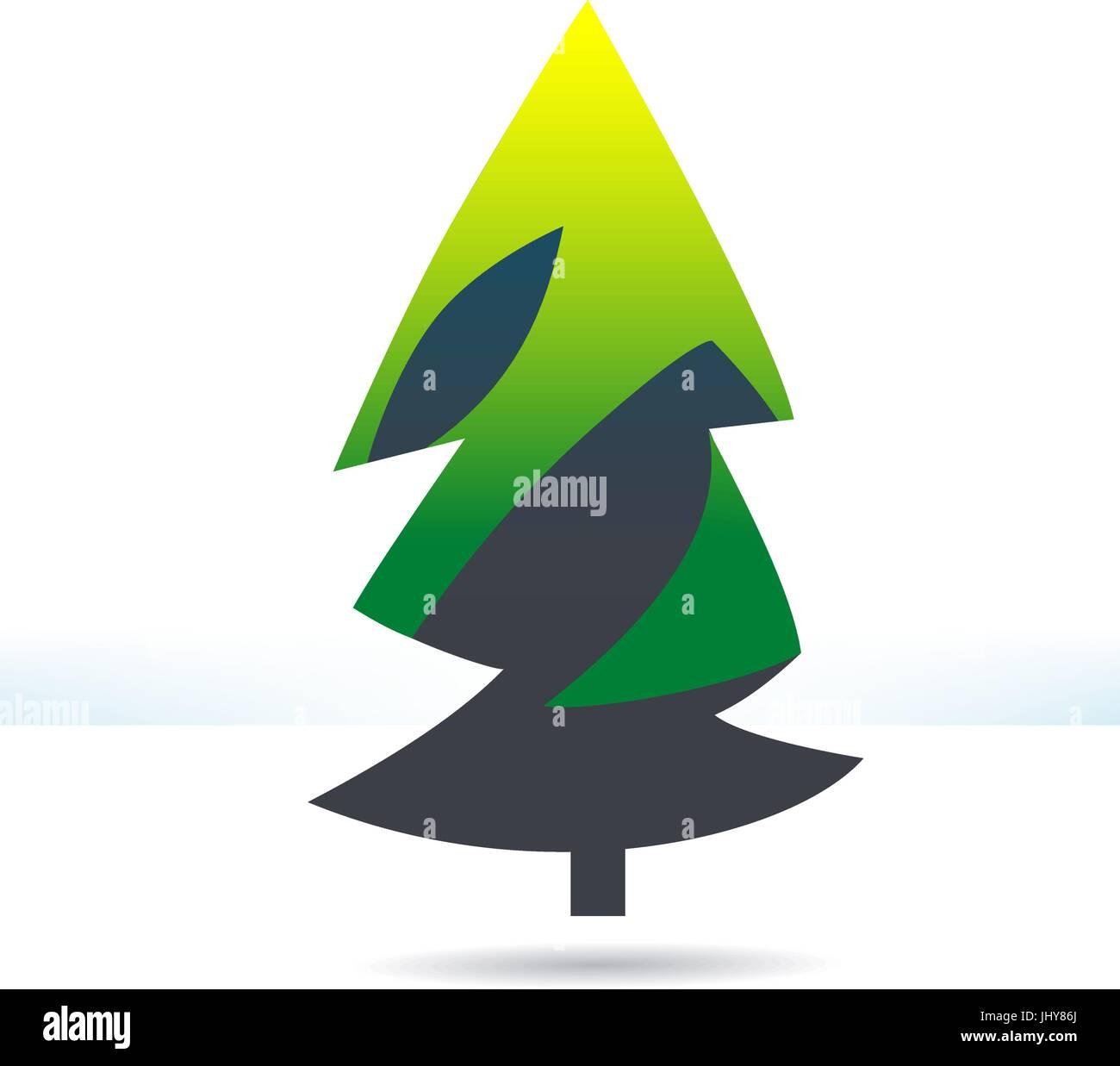 Fur-tree green icon - Stock Vector