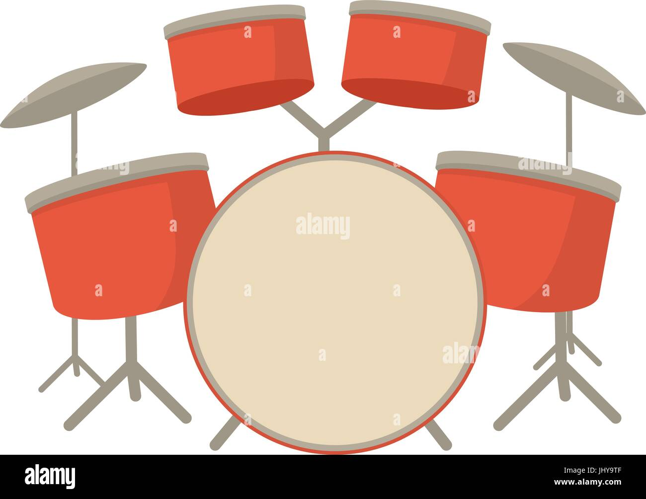 Drum Set Icon Cartoon Style Stock Vector Art Illustration Vector