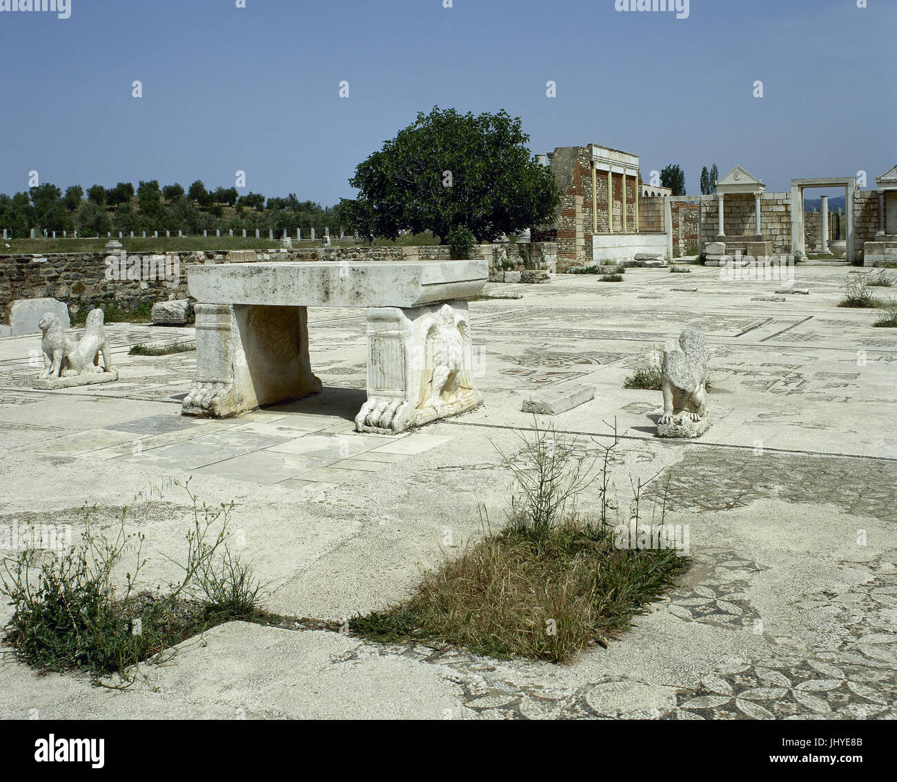 Turkis. Sardis. Ancient city. Sardis synagogue. Later Roman empire. Anatolia. - Stock Image