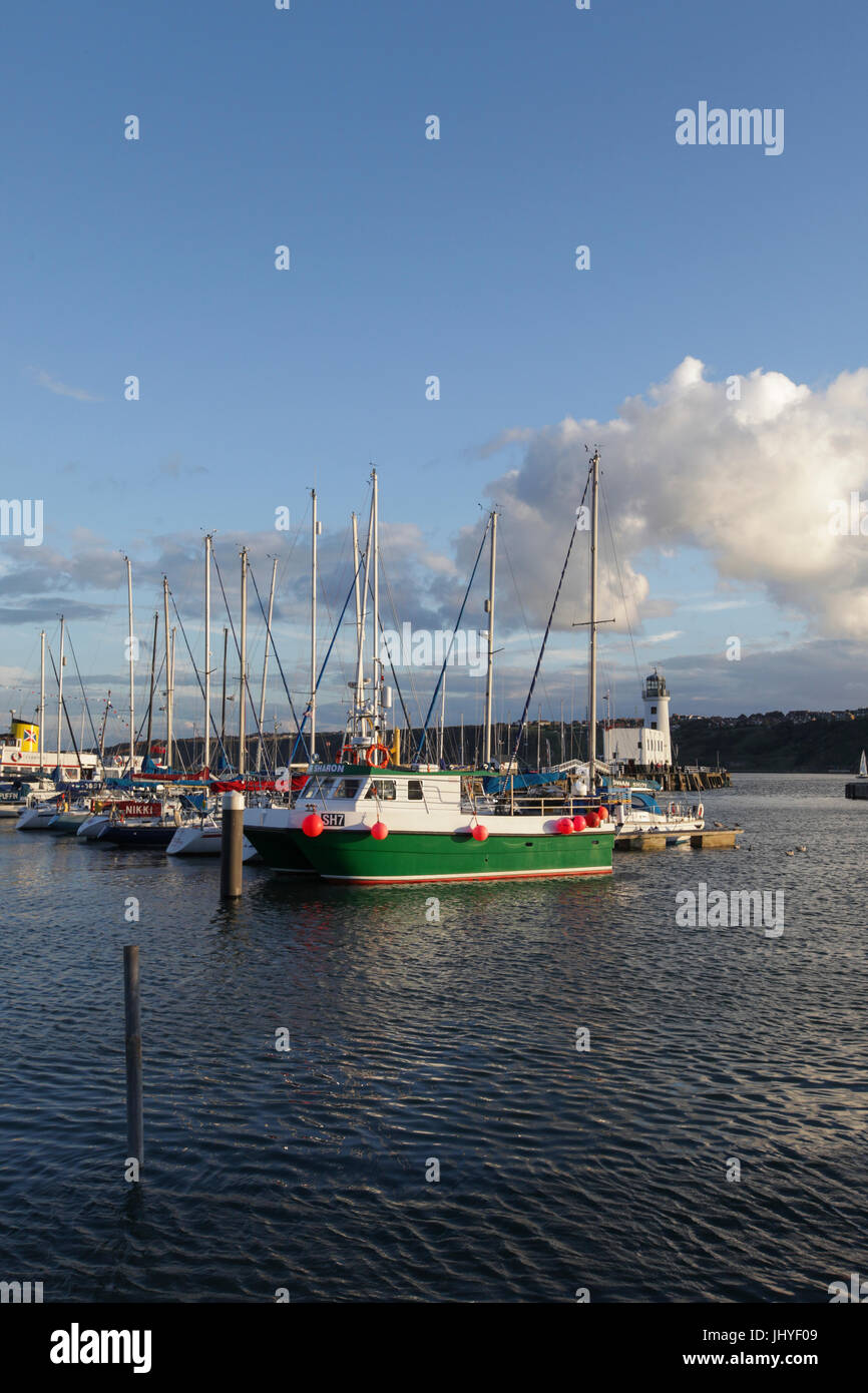 The harbour, Scarborough, North Yorkshire. - Stock Image