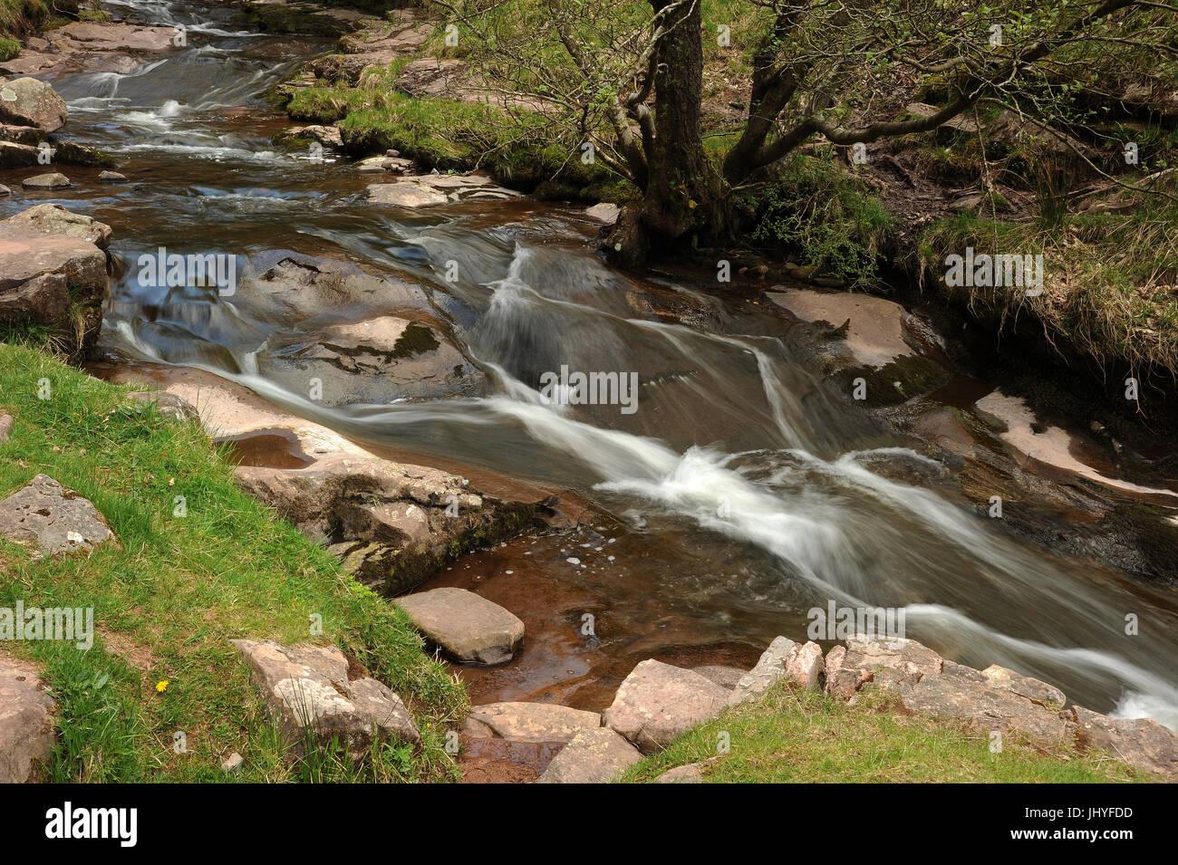 Afon Caerfanell, near Talybont, Brecon Beacons. - Stock Image