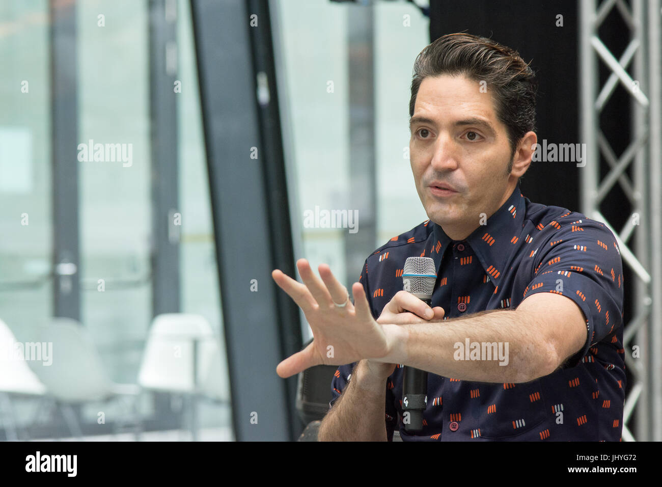 July 1st 2017. Stuttgart, Germany. David Dastmalchian talks about his roles in The Dark Knight, Prisoners, Ant-Man - Stock Image