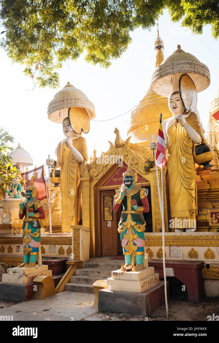 Buddhist Temple, Amarapura, Mandalay, Mandalay Region, Myanmar (Burma), Asia - Stock Image