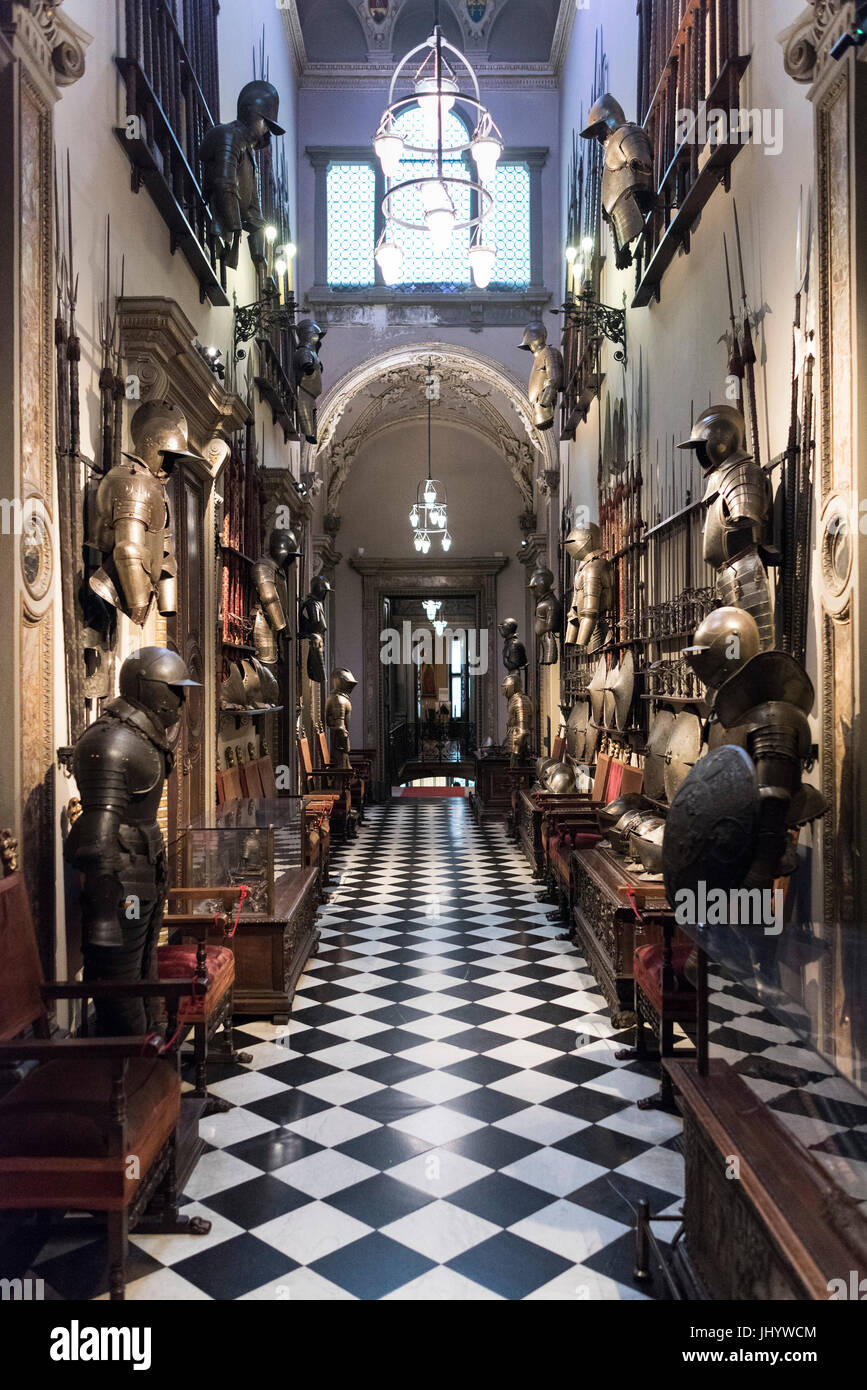 Milan. Italy. Museo Bagatti Valsecchi Museum, the Arms Gallery. - Stock Image