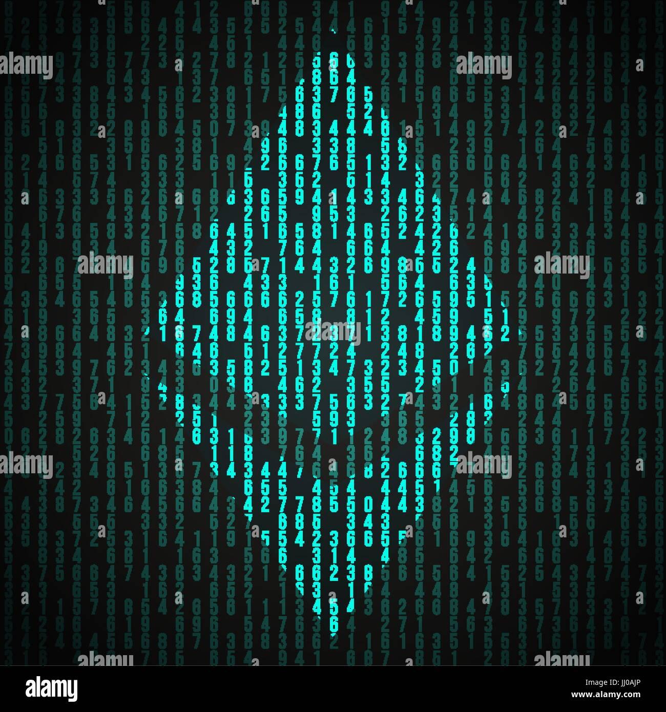 Digital Symbol Of Cryptocurrency Bitcoin Stock Vector Art